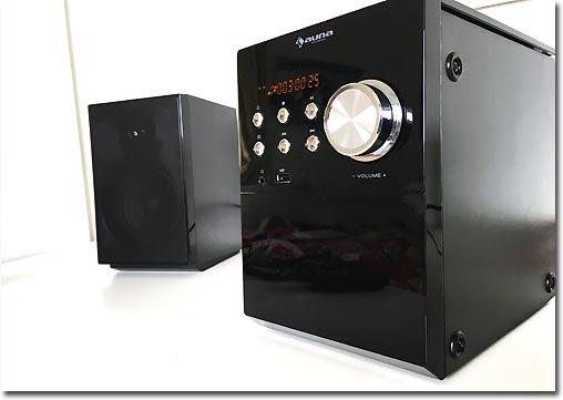 testmagazine auna mc 200 led micro stereoanlage bluetooth im test. Black Bedroom Furniture Sets. Home Design Ideas