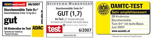 testmagazine babyschale storchenmuehle twin0 mit isofix. Black Bedroom Furniture Sets. Home Design Ideas