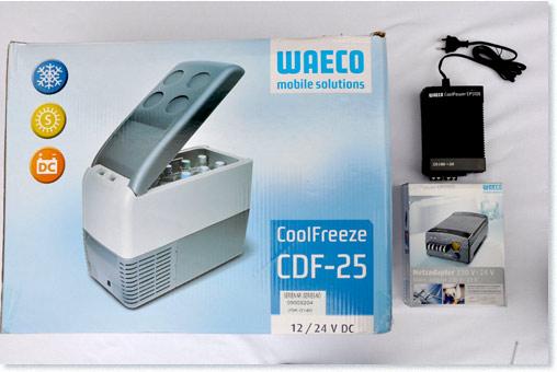 testmagazine kompressor k hlbox waeco coolfreeze cdf 25. Black Bedroom Furniture Sets. Home Design Ideas