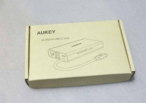 Aukey CB-C55 Multiport USB-C Hub Aluminium