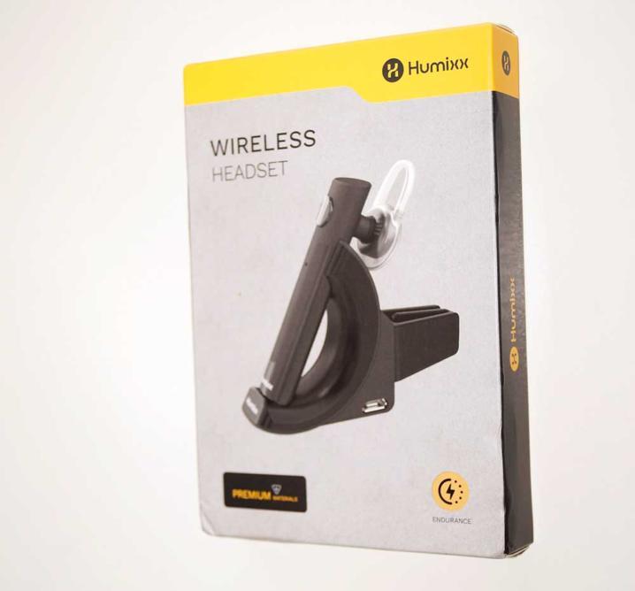 Wireless Headset von Humixx inkl. Ladehalterung für das Auto
