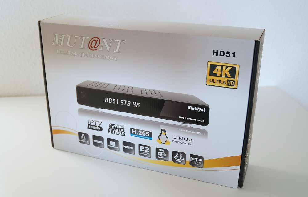 Mutant HD51 STB 4K HEVC Enigma2 Receiver
