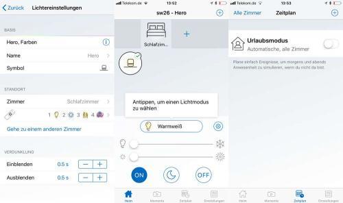 WiZ App Steuerung iOS